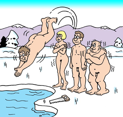 Polar bares on the ice.